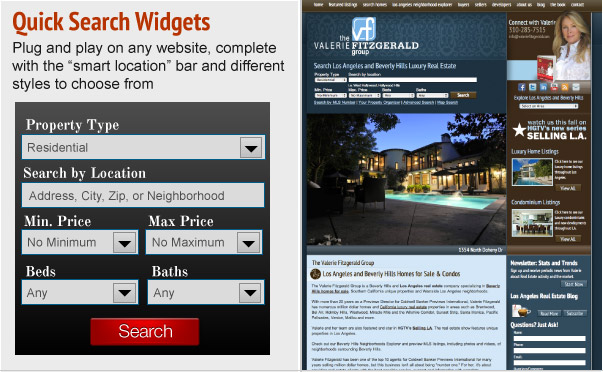Quick Search Widgets